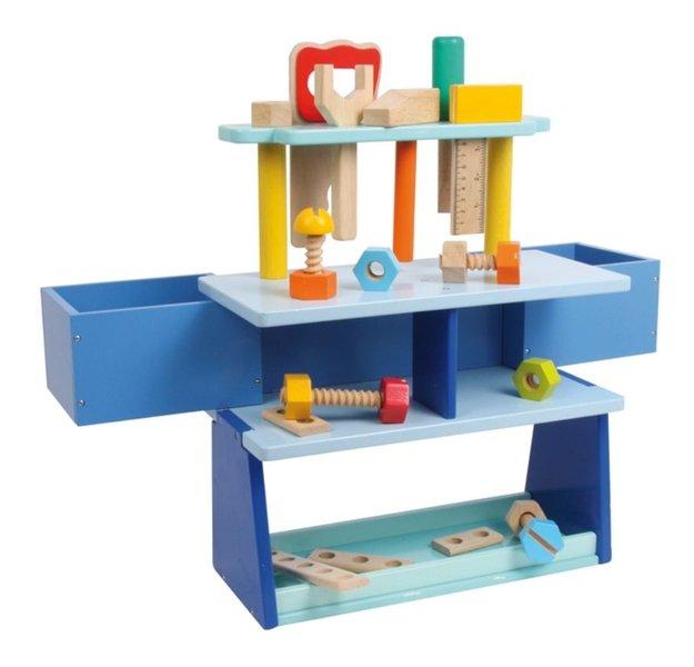 kinderwerkbank blauw donk toyshop. Black Bedroom Furniture Sets. Home Design Ideas